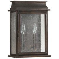 Capital Lighting Bolton 2 Light Outdoor Wall Lantern in Old Bronze 9662OB