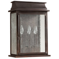 Capital Lighting Bolton 3 Light Outdoor Wall Lantern in Old Bronze 9663OB