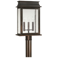 Capital Lighting Bolton 3 Light Outdoor Post Head Lantern in Old Bronze 9665OB