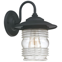 Capital Lighting Creekside 1 Light Outdoor Wall Lantern in Black with Clear Seeded Glass 9671BK