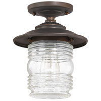 Capital Lighting Creekside 1 Light Outdoor Semi-Flush in Old Bronze 9677OB