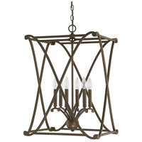 Alexander 6 Light 18 inch Burnished Bronze Foyer Ceiling Light