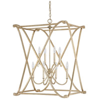 Alexander 8 Light 24 inch Winter Gold Foyer Ceiling Light