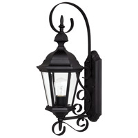 Capital Lighting Carraige House 1 Light Outdoor Wall Lantern in Black with Clear Glass 9721BK