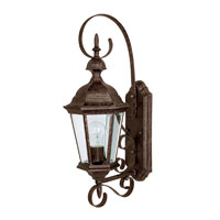 Capital Lighting Carraige House 1 Light Outdoor Wall Lantern in Tortoise with Clear Glass 9721TS