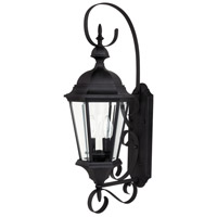 Capital Lighting Carraige House 2 Light Outdoor Wall Lantern in Black with Clear Glass 9722BK