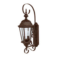 Capital Lighting Carraige House 2 Light Outdoor Wall Lantern in Tortoise with Clear Glass 9722TS