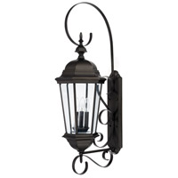 Carriage House 3 Light 36 inch Old Bronze Outdoor Wall Lantern