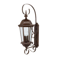 Capital Lighting 9723TS Carriage House 3 Light Tortoise Outdoor Wall Lantern photo thumbnail