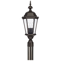 Carriage House 3 Light 24 inch Old Bronze Post Lantern