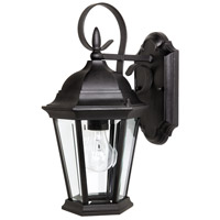 Capital Lighting Carraige House 1 Light Outdoor Wall Lantern in Black with Clear Glass 9726BK photo thumbnail
