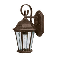 Capital Lighting Carraige House 1 Light Outdoor Wall Lantern in Tortoise with Clear Glass 9726TS