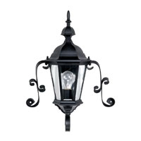 Capital Lighting Carraige House 1 Light Outdoor Wall Lantern in Black with Clear Glass 9727BK photo thumbnail