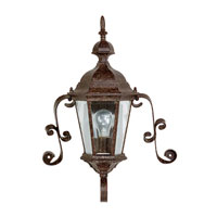 Capital Lighting Carraige House 1 Light Outdoor Wall Lantern in Tortoise with Clear Glass 9727TS