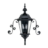 Capital Lighting Carraige House 2 Light Outdoor Wall Lantern in Black with Clear Glass 9728BK