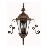 Capital Lighting Carraige House 2 Light Outdoor Wall Lantern in Tortoise with Clear Glass 9728TS