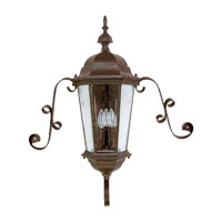 Capital Lighting Carraige House 3 Light Outdoor Wall Lantern in Tortoise with Clear Glass 9729TS photo thumbnail