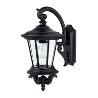 Capital Lighting Madison 1 Light Outdoor Wall Lantern in Black with Clear Glass 9751BK