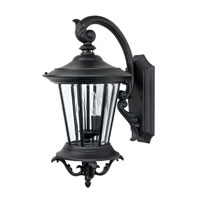 Capital Lighting Madison 2 Light Outdoor Wall Lantern in Black with Clear Glass 9752BK