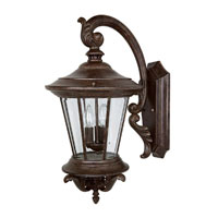 Capital Lighting Madison 3 Light Outdoor Wall Lantern in Tortoise with Clear Glass 9753TS