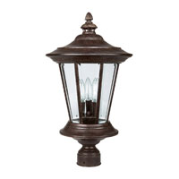 Capital Lighting Madison 3 Light Outdoor Post Lantern in Tortoise with Clear Glass 9756TS