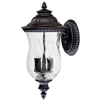 Capital Lighting Ashford 2 Light Outdoor Wall Lantern in Black with Hammered Glass 9781BK