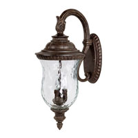 Capital Lighting Ashford 3 Light Outdoor Wall Lantern in Tortoise with Hammered Glass 9783TS