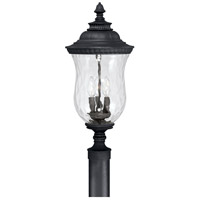 Capital Lighting Ashford 3 Light Outdoor Post Lantern in Black with Hammered Glass 9785BK