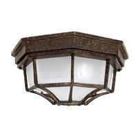 Capital Lighting Signature 2 Light Outdoor Ceiling in Tortoise with Frosted Glass 9800TS