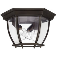 Signature 3 Light 11 inch Old Bronze Outdoor Flush Mount