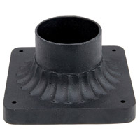 Capital Lighting 9809BK Signature 4 inch Black Post Accessory