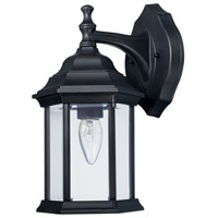 Elijah 1 Light 12 inch Black Outdoor Wall Mount