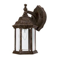 Capital Lighting Signature 1 Light Outdoor Wall Lantern in Tortoise with Clear Glass 9830TS photo thumbnail