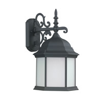 Capital Lighting Main Street 1 Light Outdoor Wall Lantern in Black with Frosted Glass 9835BK-GU