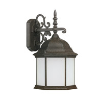 Capital Lighting Main Street 1 Light Outdoor Wall Lantern in New Tortoise with Frosted Glass 9835NT-GU