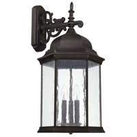 Main Street 3 Light 26 inch Old Bronze Outdoor Wall Lantern