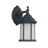 Capital Lighting Main Street 1 Light Outdoor Wall Lantern in Black with Frosted Glass 9839BK-GU