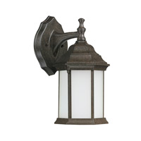 Capital Lighting Main Street 1 Light Outdoor Wall Lantern in New Tortoise with Frosted Glass 9839NT-GU
