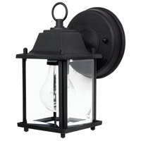 Capital Lighting Signature 1 Light Outdoor Wall Lantern in Black with Clear Glass 9850BK
