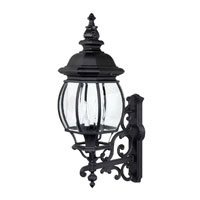 Capital Lighting French Country 4 Light Outdoor Wall Lantern in Black with Clear Glass 9860BK photo thumbnail