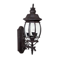 Capital Lighting French Country 3 Light Outdoor Wall Lantern in Rust with Clear Glass 9863RU photo thumbnail