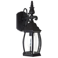 Capital Lighting French Country 1 Light Outdoor Wall Lantern in Black with Clear Glass 9866BK