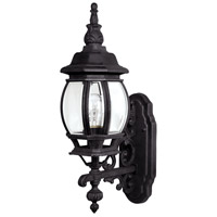 Capital Lighting French Country 1 Light Outdoor Wall Lantern in Black with Clear Glass 9867BK