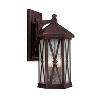 Capital Lighting Saxton 3 Light Outdoor Wall Lantern in Burnished Bronze with Seeded Glass 9873BB photo thumbnail