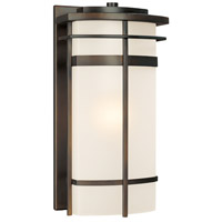 Capital Lighting Lakeshore 1 Light Outdoor Wall Lantern in Old Bronze with Seeded Glass 9881OB