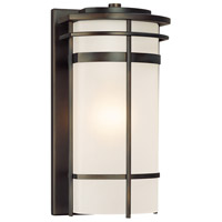 Capital Lighting Lakeshore 1 Light Outdoor Wall Lantern in Old Bronze with Seeded Glass 9882OB