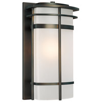 Capital Lighting Lakeshore 1 Light Outdoor Wall Lantern in Old Bronze with Seeded Glass 9883OB