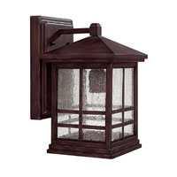 Capital Lighting Preston 1 Light Outdoor Wall Lantern in Mediterranean Bronze 9911MZ