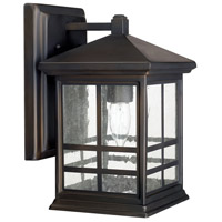 Preston 1 Light 12 inch Old Bronze Outdoor Wall Lantern