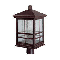 Preston 4 Light 20 inch Mediterranean Bronze Outdoor Post Lantern